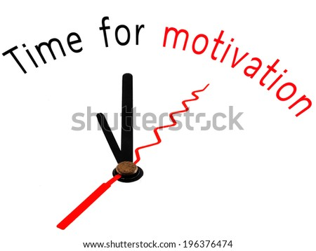 Time for Motivation with clock concept - stock photo