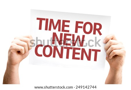 Time for New Content card isolated on white background - stock photo