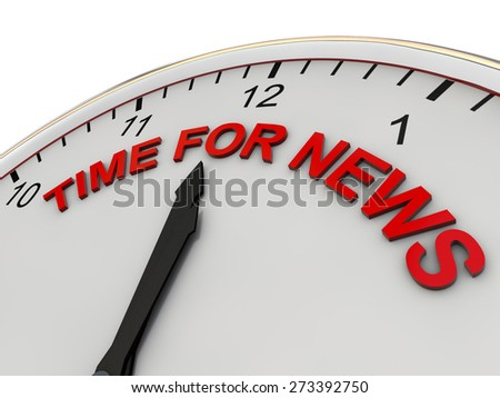 Time for News on a clock - stock photo
