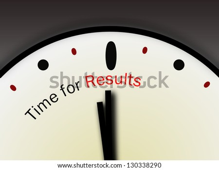 Time for Results concept - stock photo