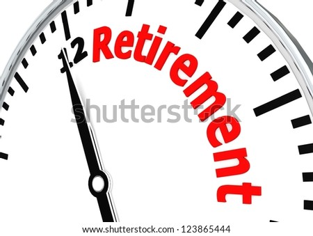 Time for retirement - stock photo