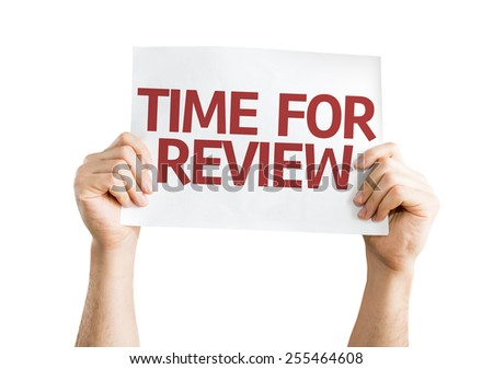 Time for Review card isolated on white background - stock photo