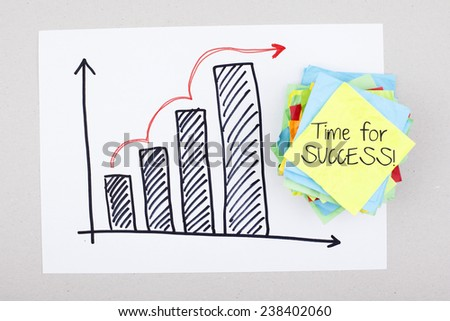 Time for success concept / Motivational business quote concept - stock photo
