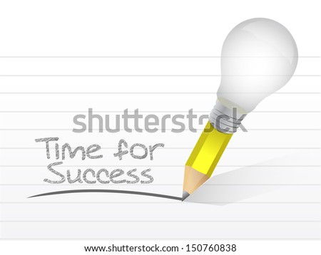 time for success written on a notepad paper - stock photo