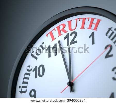 Time for Truth , 3d render - stock photo