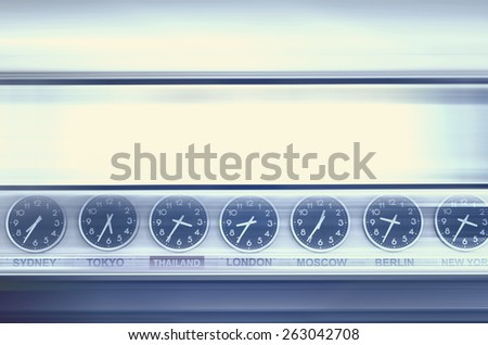 Time in the train station - stock photo