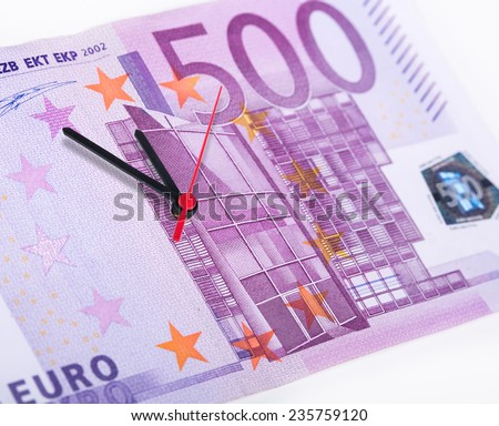Time is money and it ticking away - stock photo