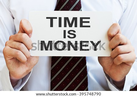 Time is Money. Business concept - stock photo