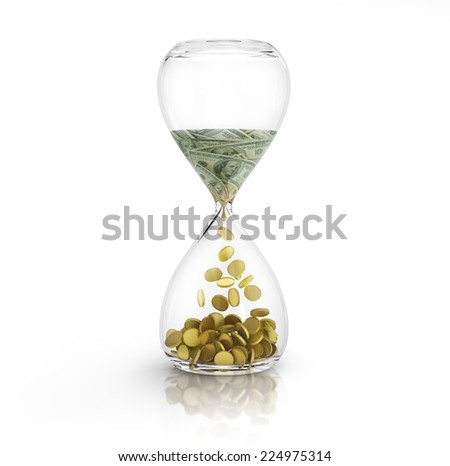time is money concept. - stock photo