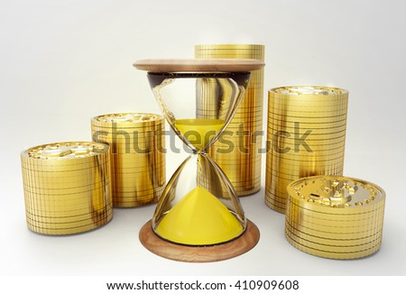 Time is money. Concept. 3d rendering - stock photo