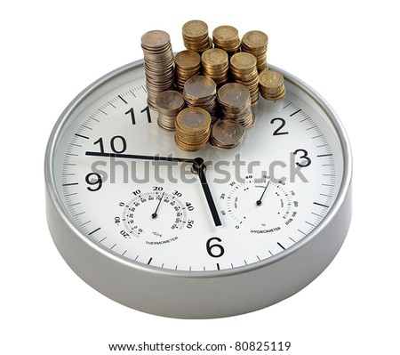Time is money concept for business efficiency - stock photo