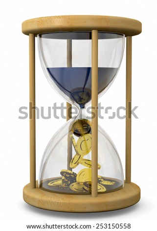 Time is Money Concept on white background - stock photo