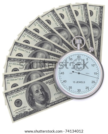 Time is money. 3d generated image - stock photo