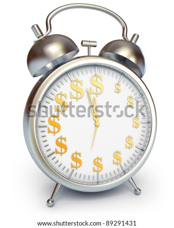 Time is money, 3d render