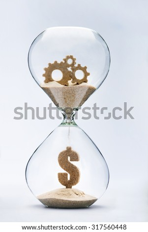 Time is money. Gears of success - stock photo