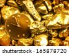 time is money/ gold background with a watch/ christmas background with a watch (tvelve oclock) - stock
