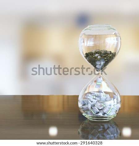 time is money (interior version with bokeh)