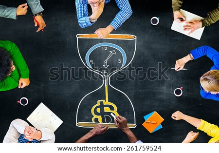 Time is Money Sandglass Investment Countdown Measure Concept - stock photo