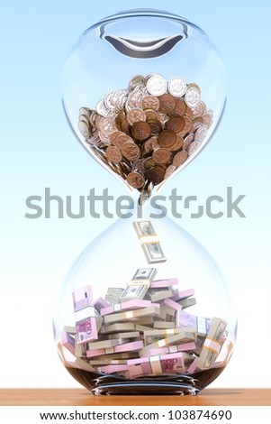 time is money (version with the central composite) - stock photo