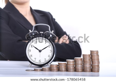 Time is Money ,wait for money growth - stock photo