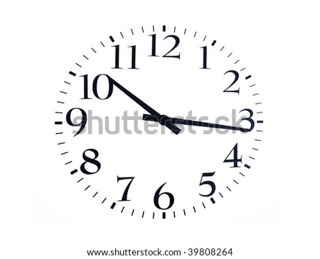 time is now black on a white background - stock photo