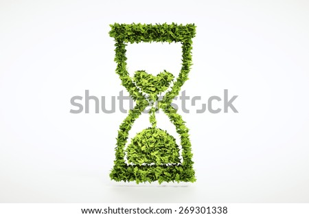 Time is running out concept with included clipping path. - stock photo