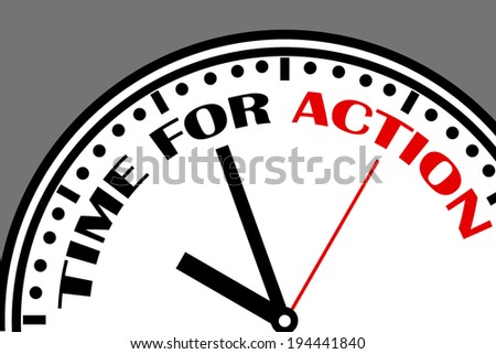 time is running out, time for action - stock photo