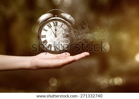 Time is running up - stock photo