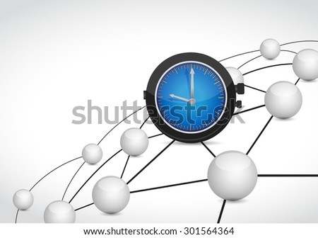 time link sphere network connection concept illustration design graphic background - stock photo