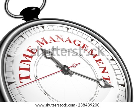 time management concept clock isolated on white background - stock photo