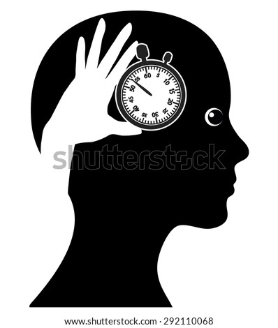 Time Management. Concept sign of a woman managing her time effectively  - stock photo