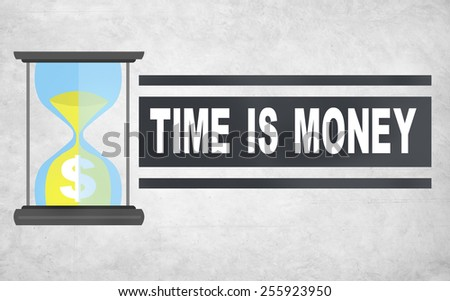 Time Money Hour Glass Investment Plan Concept - stock photo