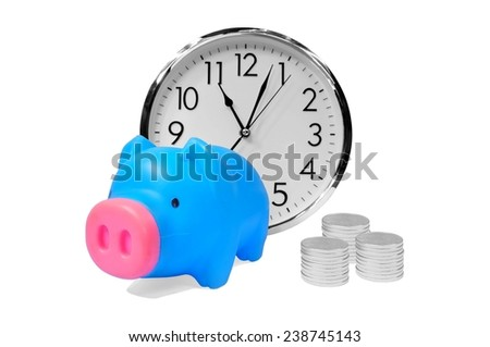 time money savings finance concept