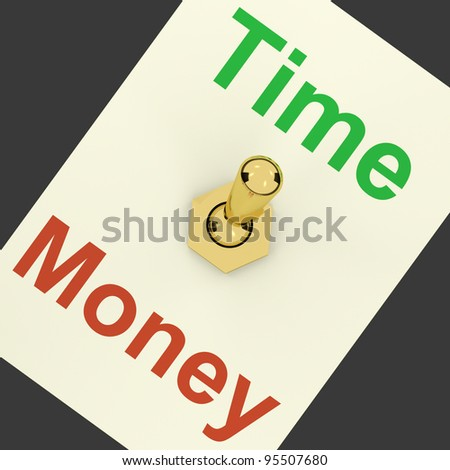 Time Money Switch Showing Days Are More Important Than Wealth