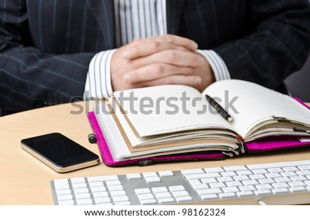 time notice and a calender - stock photo