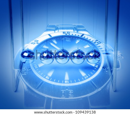 Time passing, longevity and eternity concept - stock photo
