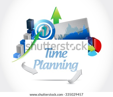 time planning business board sign concept illustration design graphic