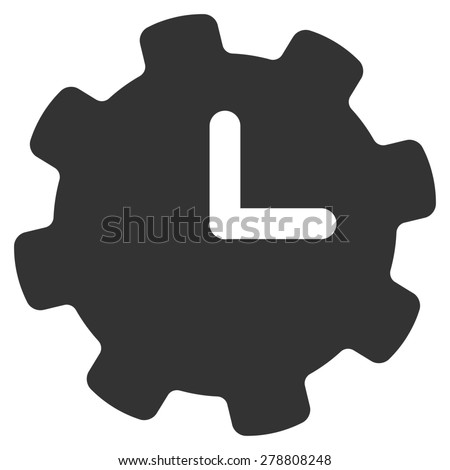 Time settings icon from Business Bicolor Set. This isolated flat symbol uses gray color. - stock photo