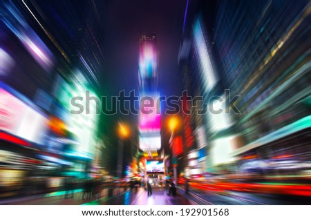 Time Squere in motion  - stock photo