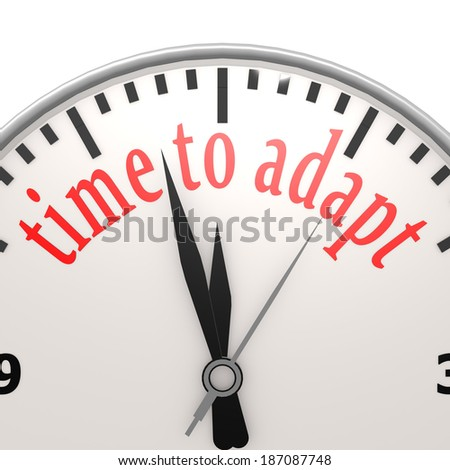 Time to adapt clock - stock photo