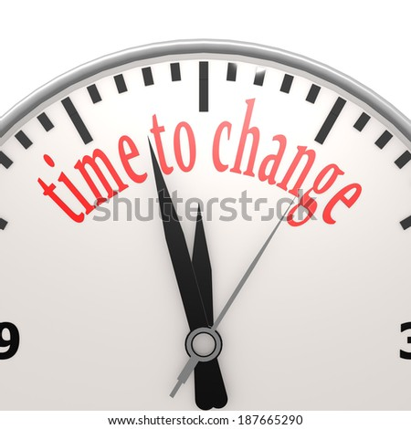 Time to change clock - stock photo