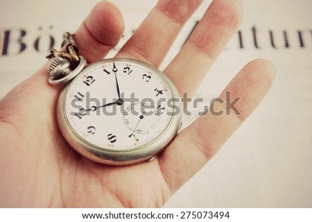 Time to change or Do not waste your time, Time management, Time is money - stock photo