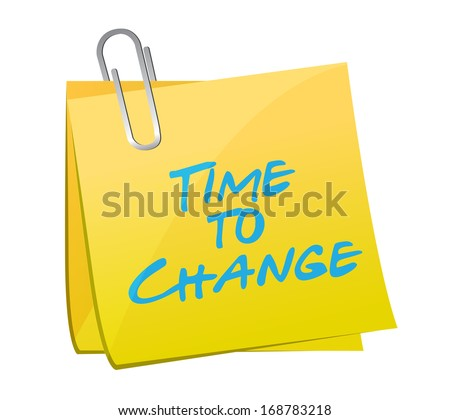 time to change post illustration over a white background - stock photo