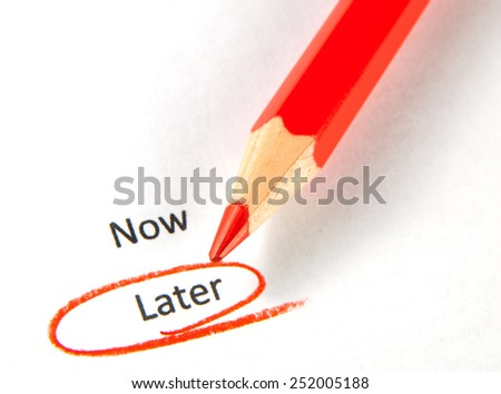 Time to choose - stock photo