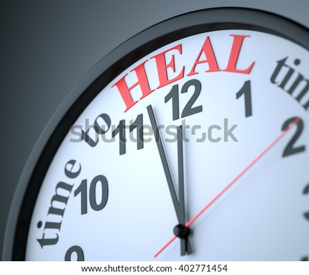 Time to Heal , 3d render - stock photo