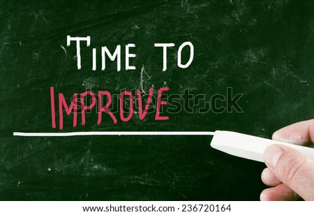 time to improve - stock photo