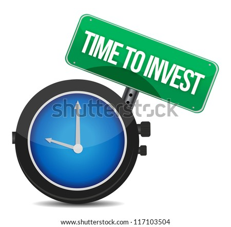 Time to invest concept illustration design over white - stock photo