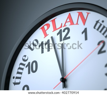 Time to Plan , 3d render - stock photo