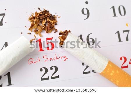 Time to quit smoking - stock photo