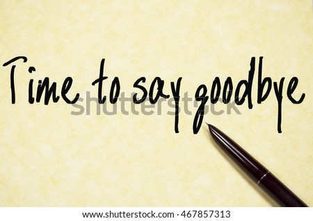 how to write a goodbye s